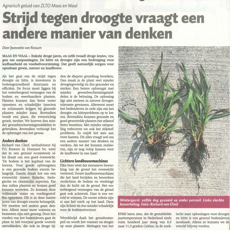 Strijd tegen droogte vraagt om andere aanpak landbouw